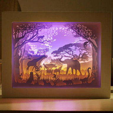 Singapore Zoo - Lighted Paper Frame DIY Crafts Blue Stone Craft Singapore Zoo