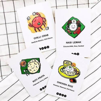 Singapore's Super Shiok Food Playing Cards - Local Card Games - SayWhat? - Naiise