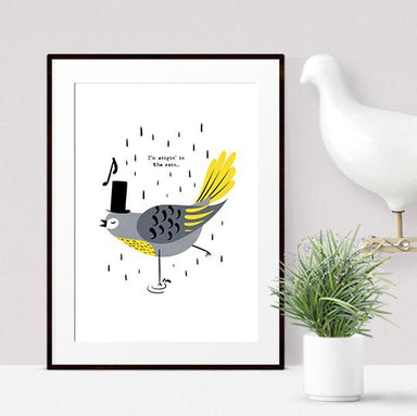 Singing Bird Print - Frank - Kids Prints - Poppetry - Naiise