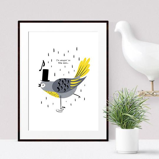 Singing Bird Print - Frank Kids Prints Poppetry