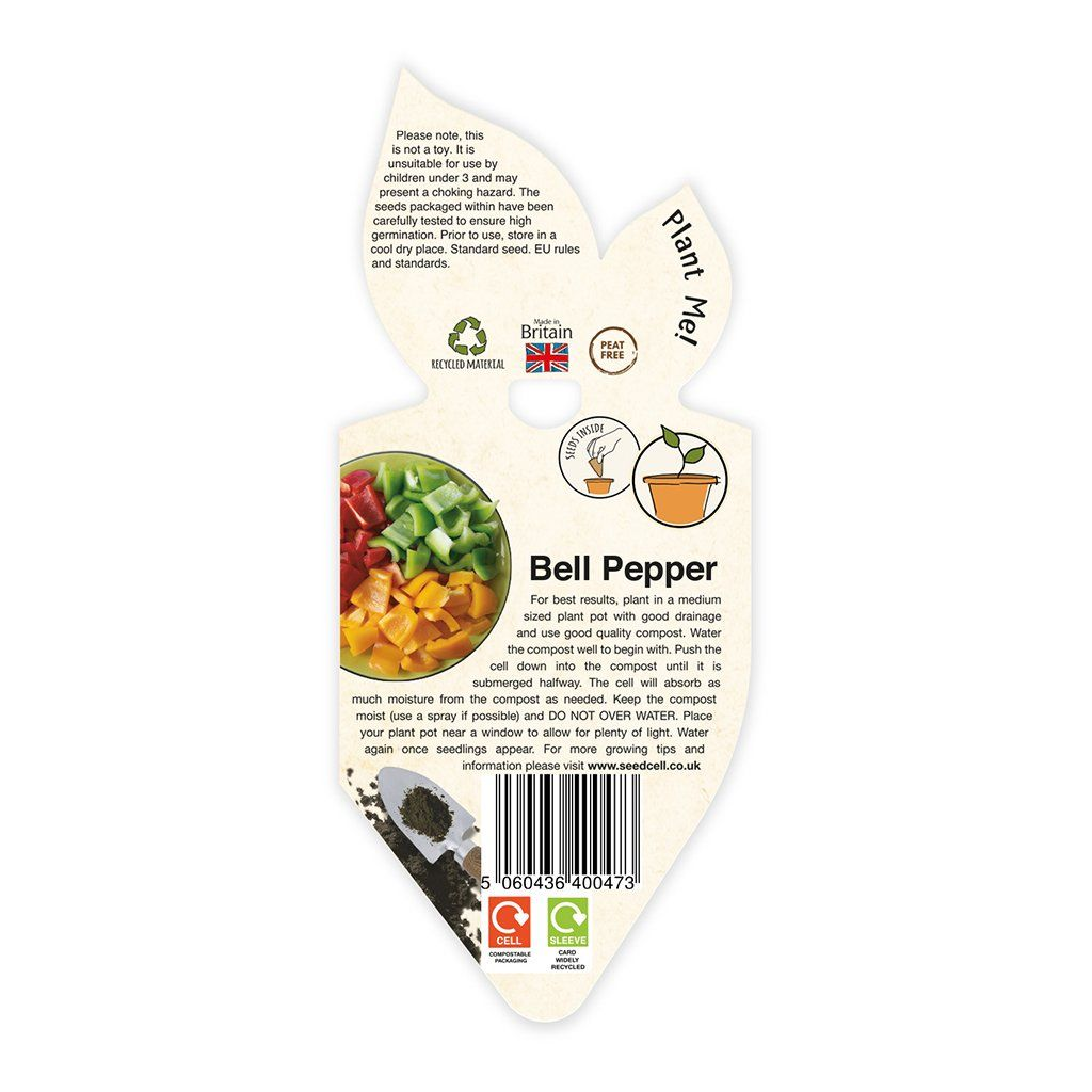 SingleCell Gardening Kits Crops & Co Bell Pepper