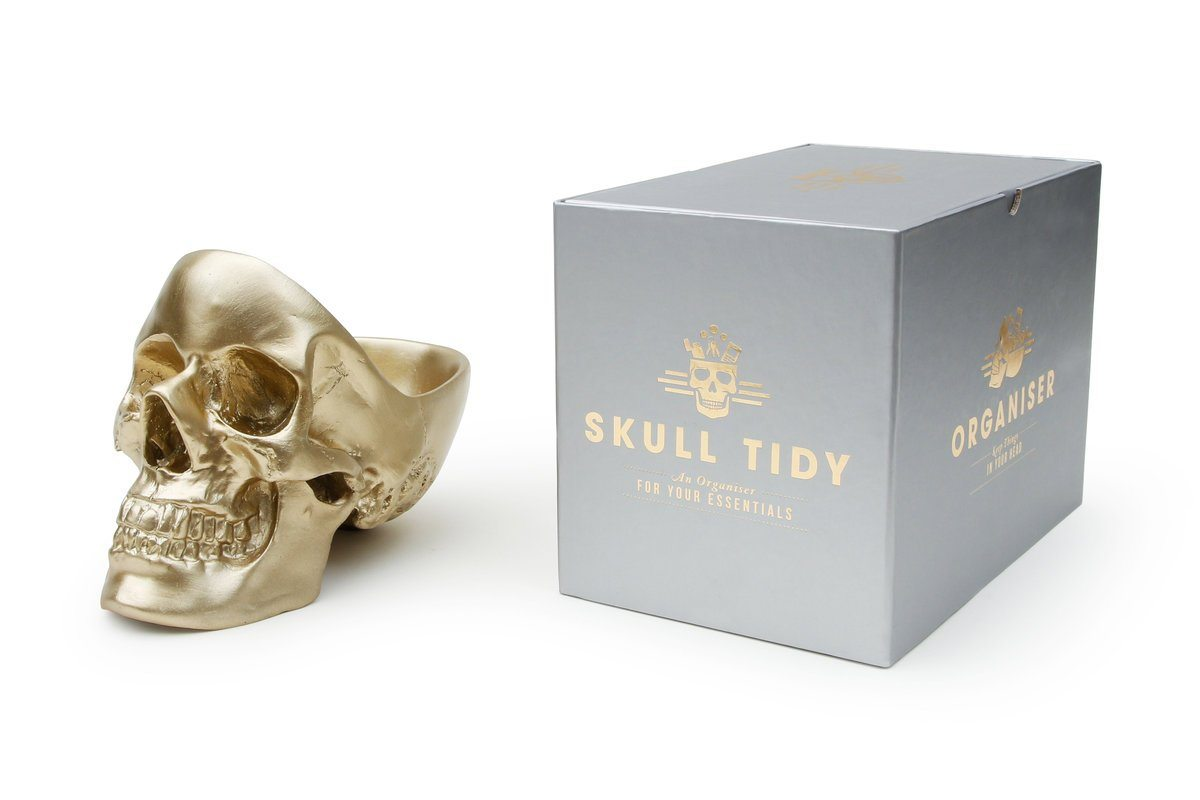 Skull Tidy Jewellery Holders Suck UK Gold