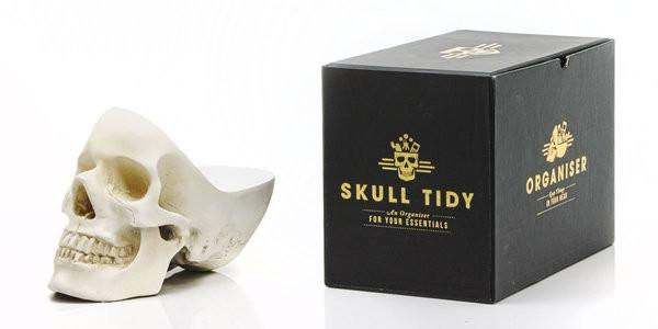 Skull Tidy Jewellery Holders Suck UK White