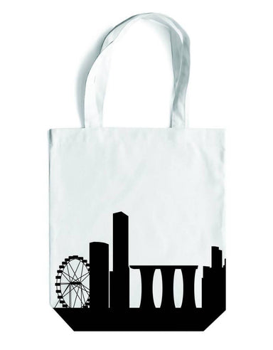 Skyline Canvas Bag Local Tote Bags LOVE SG