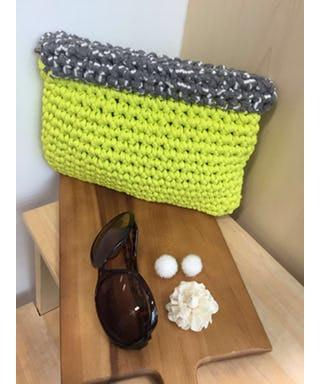 Sling/ Clutch Bag - Neon Green Clutches Nanaknits