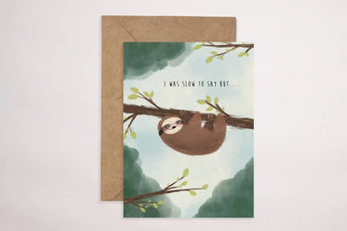 Sloth Card Generic Greeting Cards YOUNIVERSE DESIGN