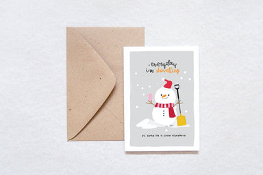 Snowman Shove-ling Card Christmas Cards TispyTopsy