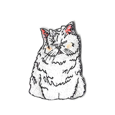 Snowy Cat Sticker Patch Iron On Patches Pew Pew Patches