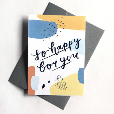 So Happy For You | Greeting Card - Congratulations Cards - Papercranes Design - Naiise