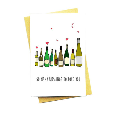 So Many Rieslings To Love You Greeting Card - Love Cards - Nocturnal Paper - Naiise