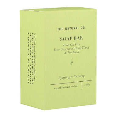 Soap Bar_Vegan (PALM OIL FREE) - Rose Geranium Ylang Ylang & Patchouli Soaps The Natural Co.