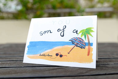 Son Of A Beach Greeting Card - Generic Greeting Cards - The Kardiacs - Naiise