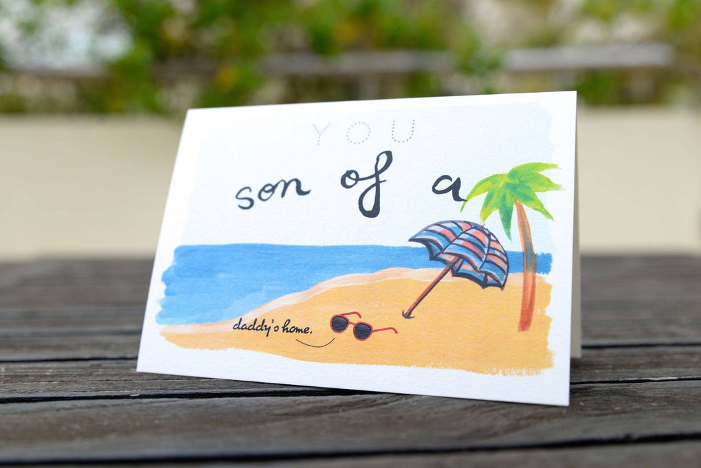 Son Of A Beach Greeting Card Generic Greeting Cards The Kardiacs