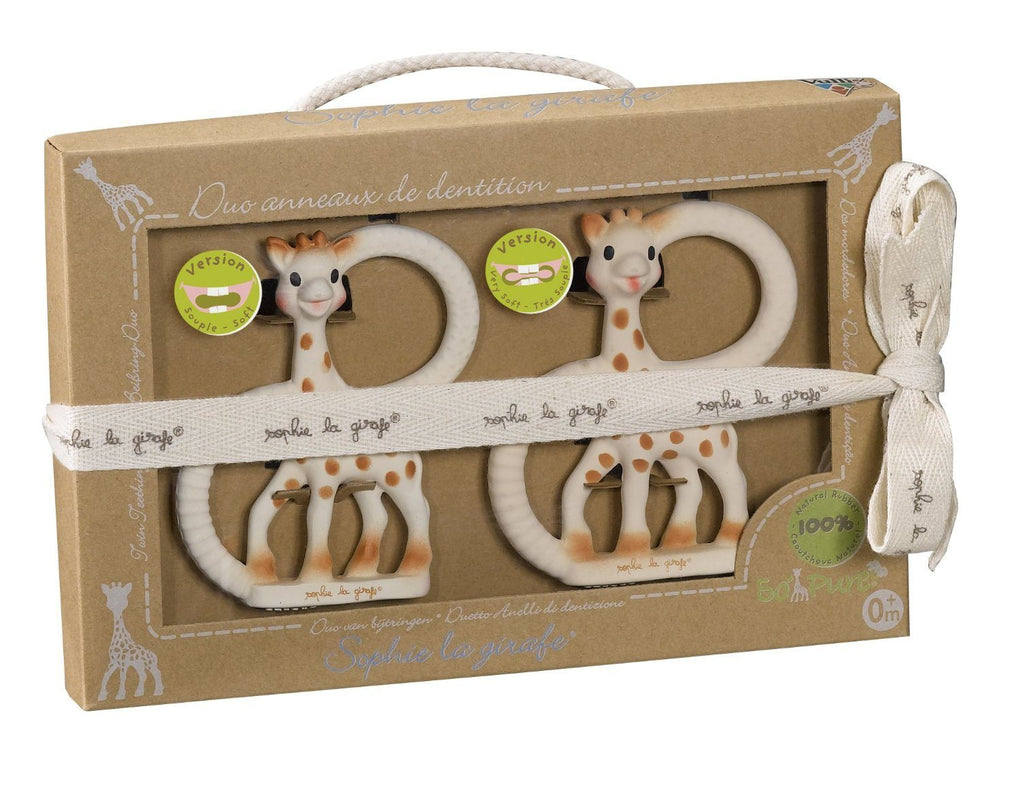 Sophie la girafe So'Pure Teething Ring Set (Soft & Very Soft) Teethers Sophie la girafe