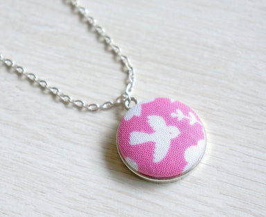 Sora Rin Handmade Fabric Button Necklace - Necklaces - Paperdaise Accessories - Naiise