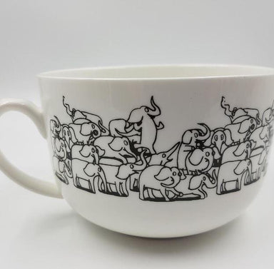 Soup Mug - Elephants Mugs The Animal Project