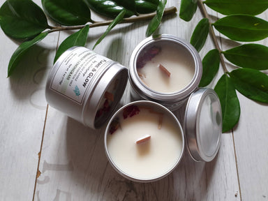 Soy Candle Geranium Lemongrass 4 oz - Scented Candles - Alletsoap - Naiise