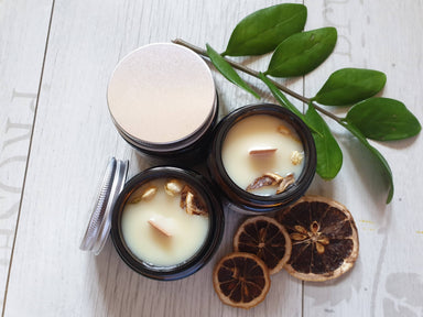 Soy Candle Orange Jasmine & Lavender Bergamot (3.5 oz x 2 nos) - Bundle of 2 - Scented Candles - Alletsoap - Naiise