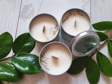 Soy Candle Rosemary Mint 4 oz - Scented Candles - Alletsoap - Naiise