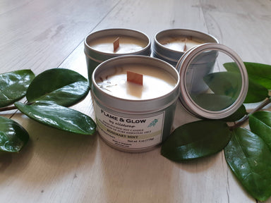 Soy Candle Rosemary Mint 4 oz Scented Candles Alletsoap