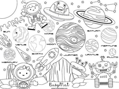 Space n' Bots Busy Mat - Kids Activity Kits - Busy Mat - Naiise