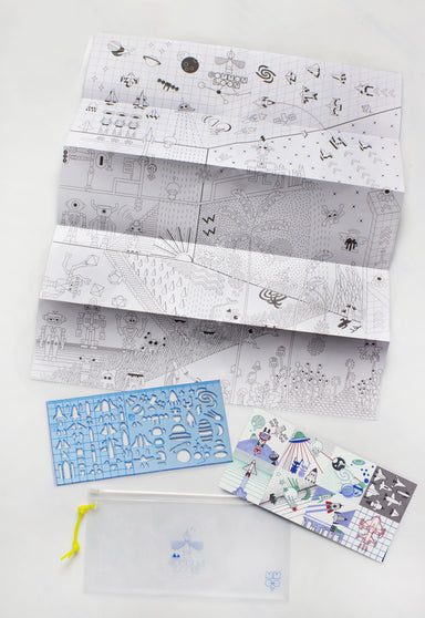 SpaceLoon stencil kit-Blue - Naiise