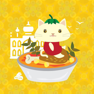 Spicy Curry Felines - 6 pcs Sticker Pack Stickers Sinful Cuties