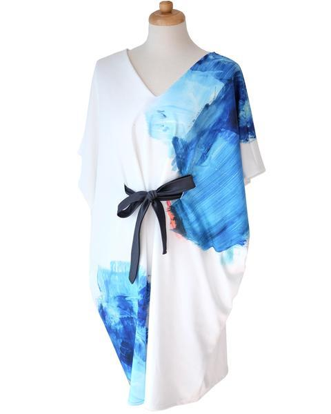 Splash Kimono Dress Dresses Ans.ein