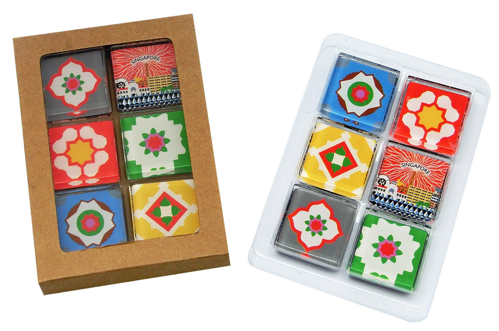 Square Peranakan Tiles Magnet Local Magnets Now&Then