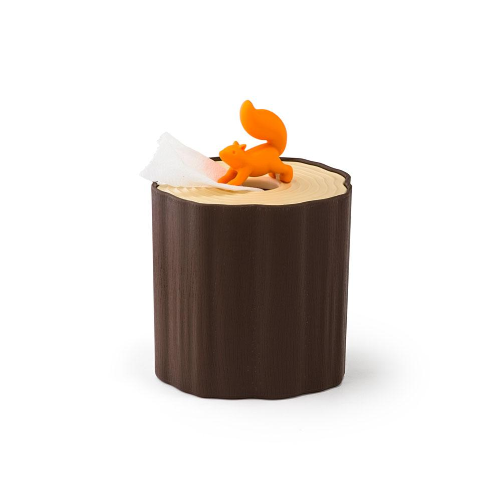 Squirrel Log Tissue Holder Home Decor Qualy