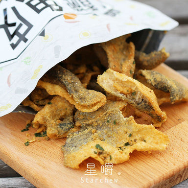 Star Chew Salted Egg Fish Skin Crisps Local Snacks Star Chew