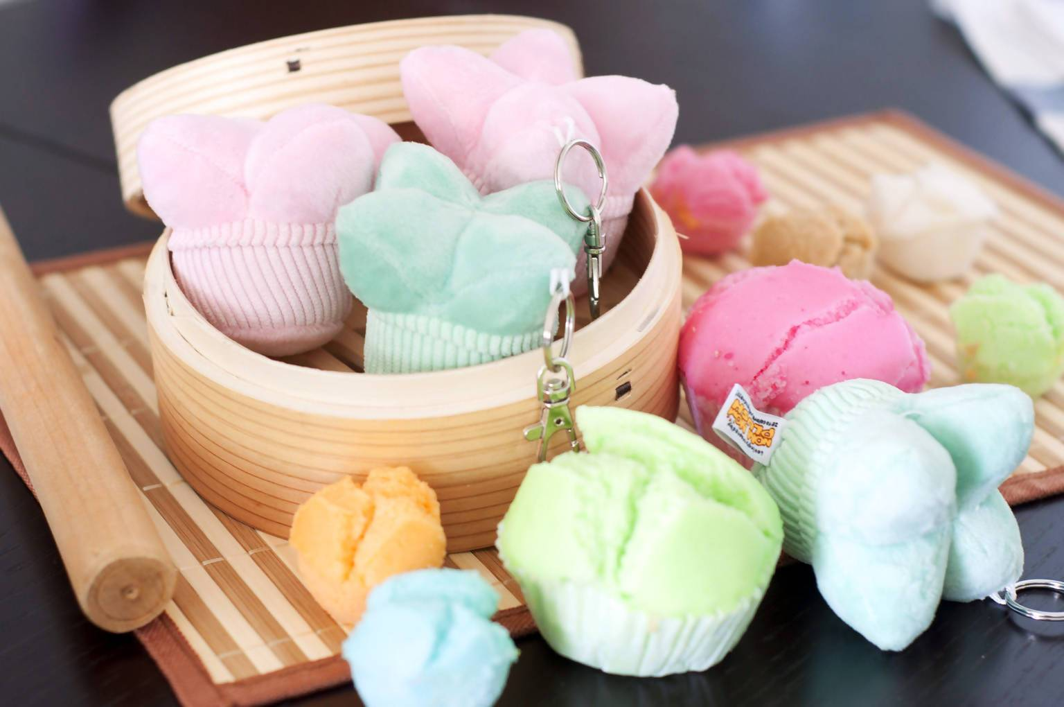 Steamed Rice Cake (Wa Ko Kueh) Keychains - Local Keychains - Nom Nom Plush - Naiise