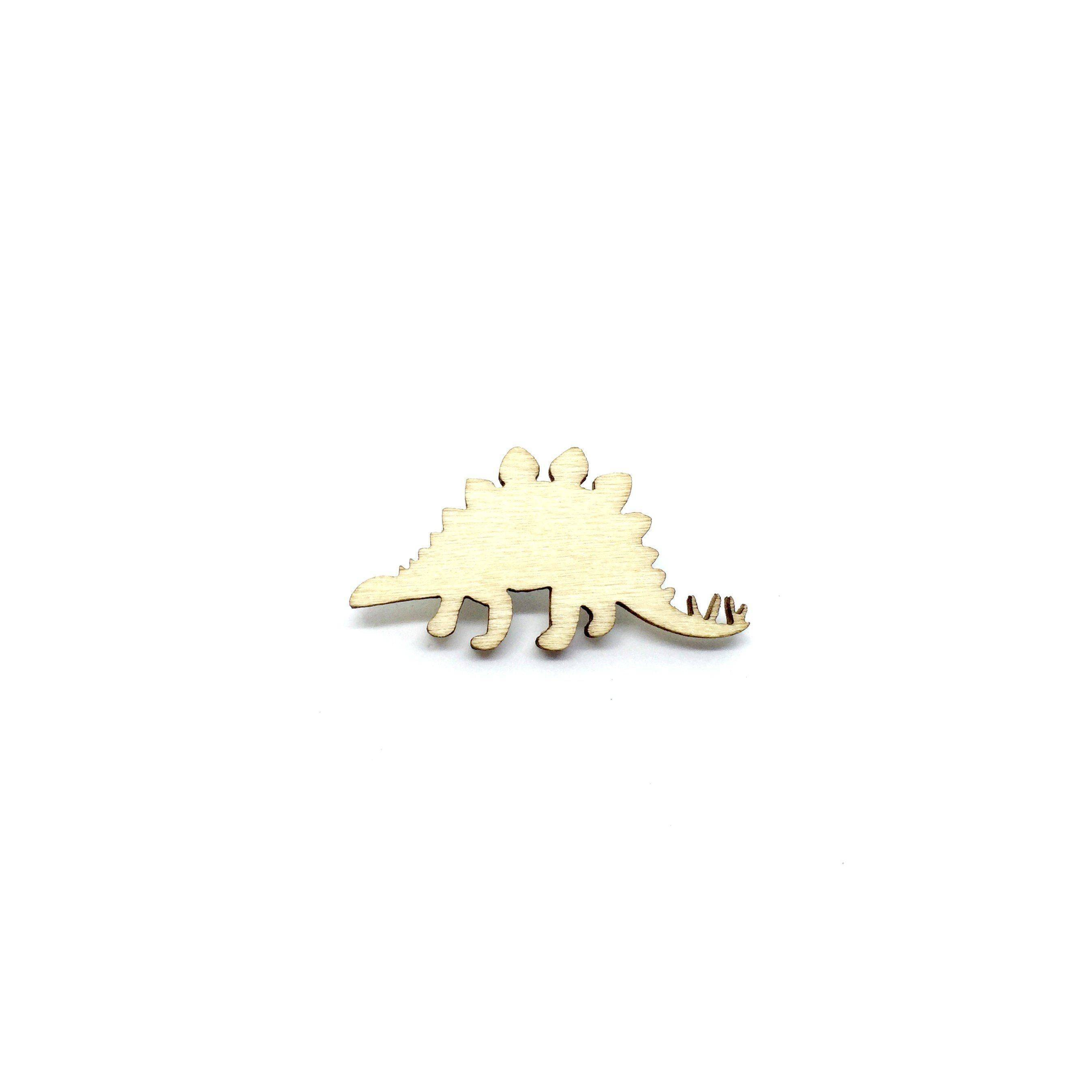 Stegosaurus Wooden Brooch Pin - Brooches - Paperdaise Accessories - Naiise