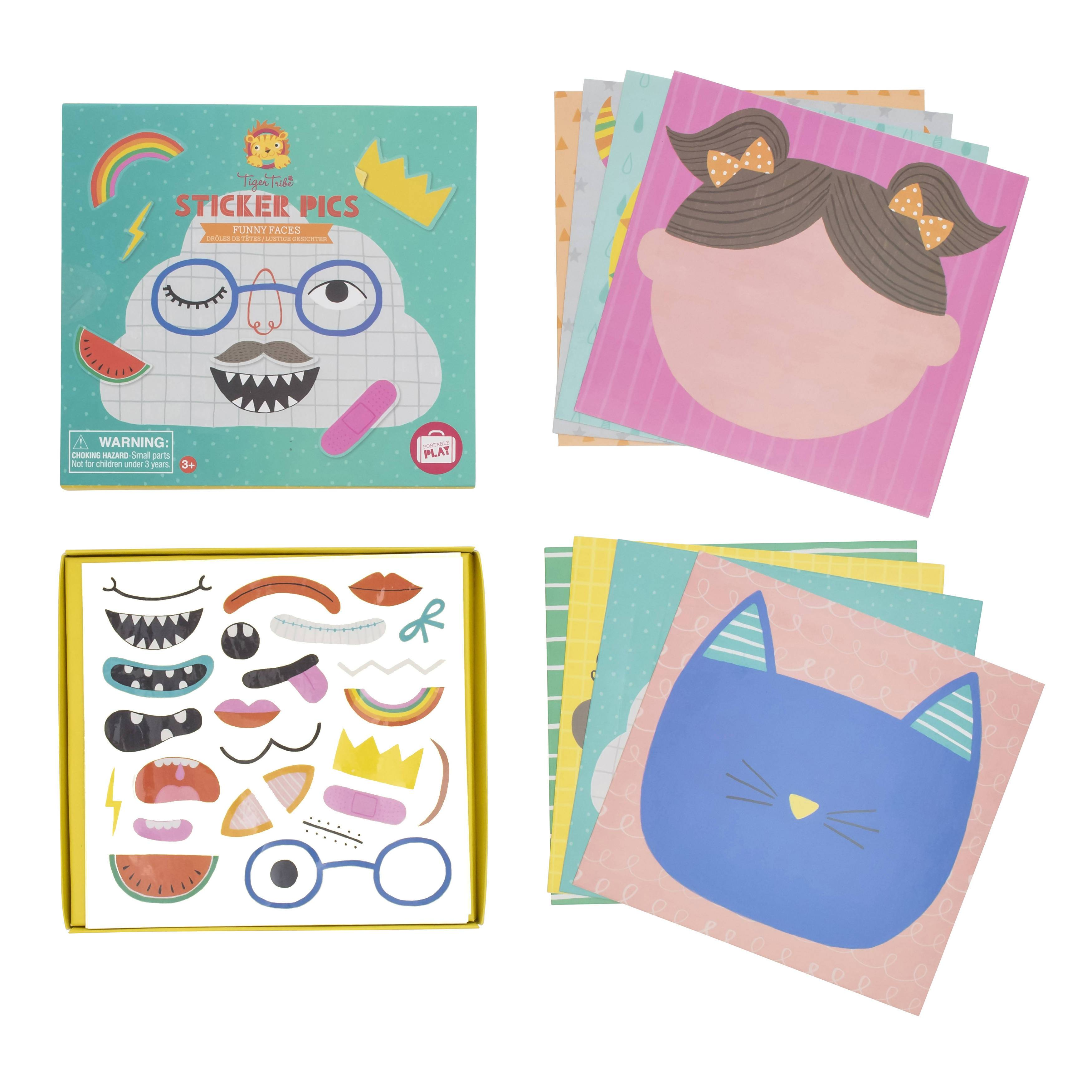 Sticker Pics - Funny Faces - Kids Activity Kits - The Children's Showcase - Naiise