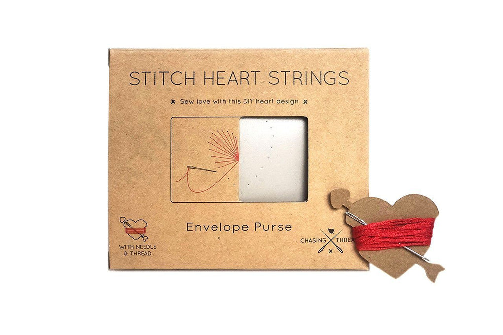 Stitch Heart Strings Purse Pouches Chasing Threads