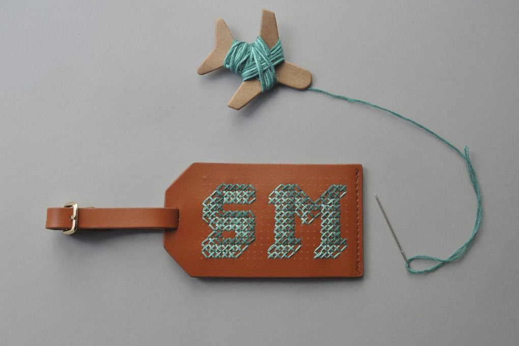 Stitch Luggage Tag Brown Luggage Tags Chasing Threads