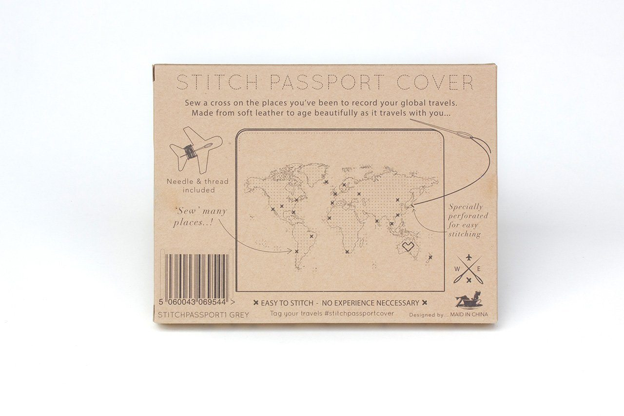 Stitch Passport Cover Grey - Passport Holders - Chasing Threads - Naiise