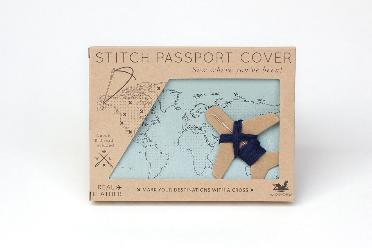 Stitch Passport Cover Mint - Passport Holders - Chasing Threads - Naiise