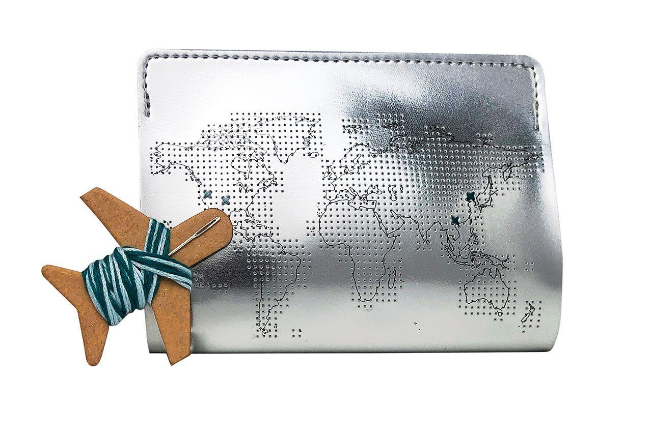 Stitch Passport Cover Silver PU Passport Holders Chasing Threads