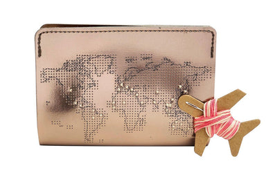 Stitch Passport Cover Rose Gold PU Passport Holders Chasing Threads