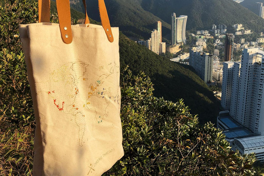 Stitch Tote Bag Natural Tote Bags Chasing Threads