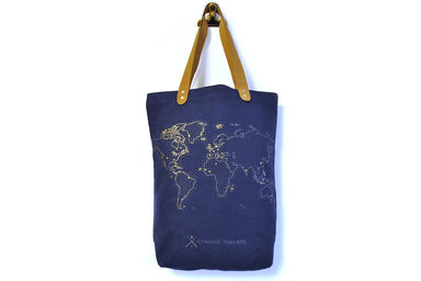 Stitch Tote Bag Navy Tote Bags Chasing Threads