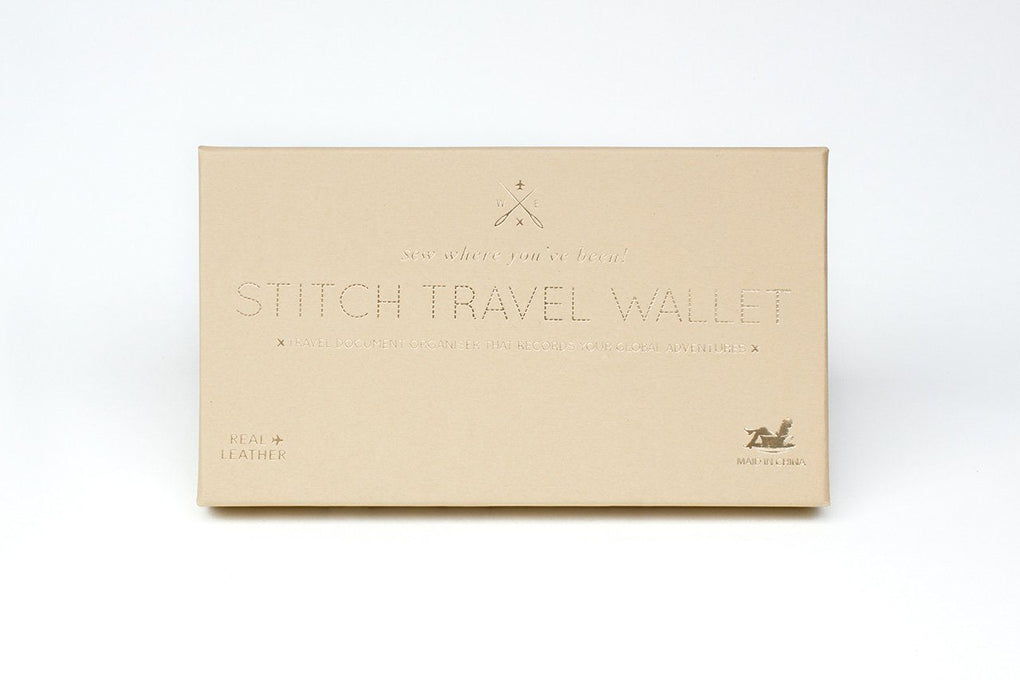 Stitch Travel Wallet Brown Women's Wallets Chasing Threads