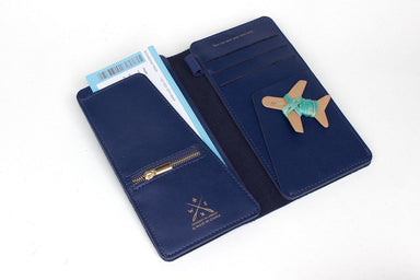 Stitch Travel Wallet Navy Women's Wallets Chasing Threads