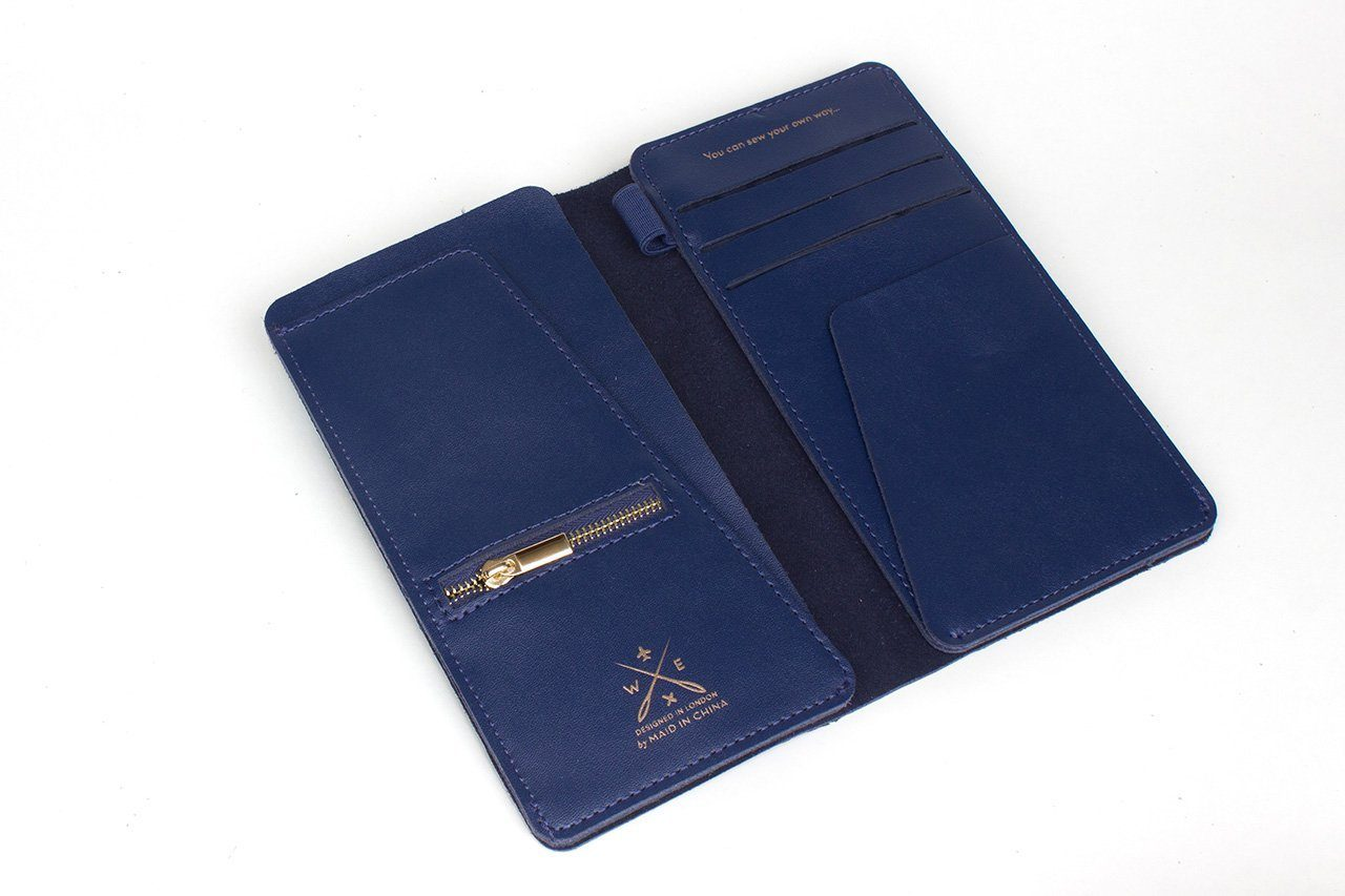 Stitch Travel Wallet Navy - Women's Wallets - Chasing Threads - Naiise