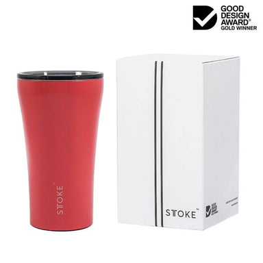STTOKE REUSABLE COFFEE CUP 12oz - Coral Sunset Thermal Mugs Sttoke