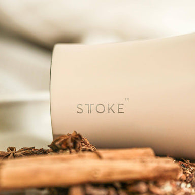 STTOKE REUSABLE COFFEE CUP 12oz - Ivory Chai - Thermal Mugs - Sttoke - Naiise