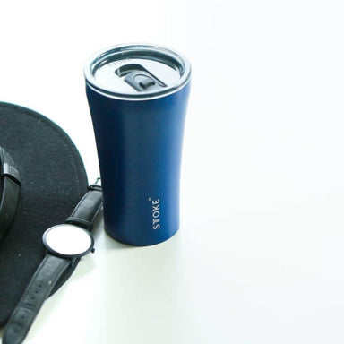 STTOKE REUSABLE COFFEE CUP 12oz - Magnetic Blue Thermal Mugs Sttoke