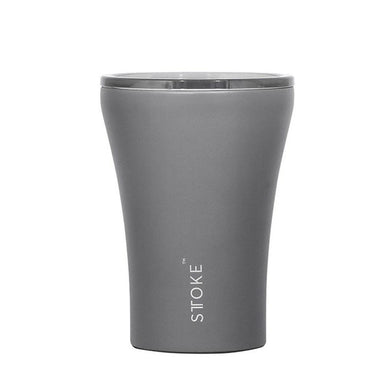 STTOKE REUSABLE COFFEE CUP 12oz - Slated Grey Thermal Mugs Sttoke