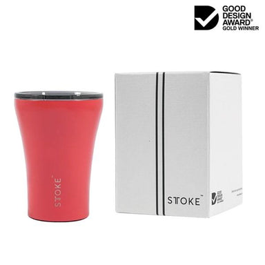 STTOKE REUSABLE COFFEE CUP 8oz - Coral Sunset Thermal Mugs Sttoke